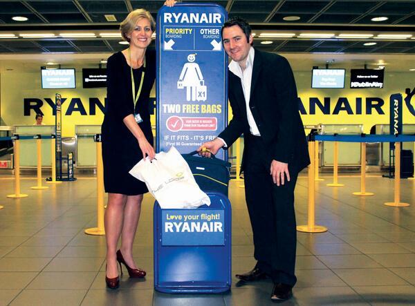 Ryanair bagažo dydis (ATNAUJINTOS TAISYKLĖS)