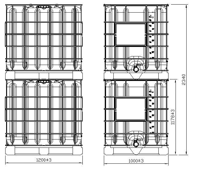 IBC konteinerių dydžiai